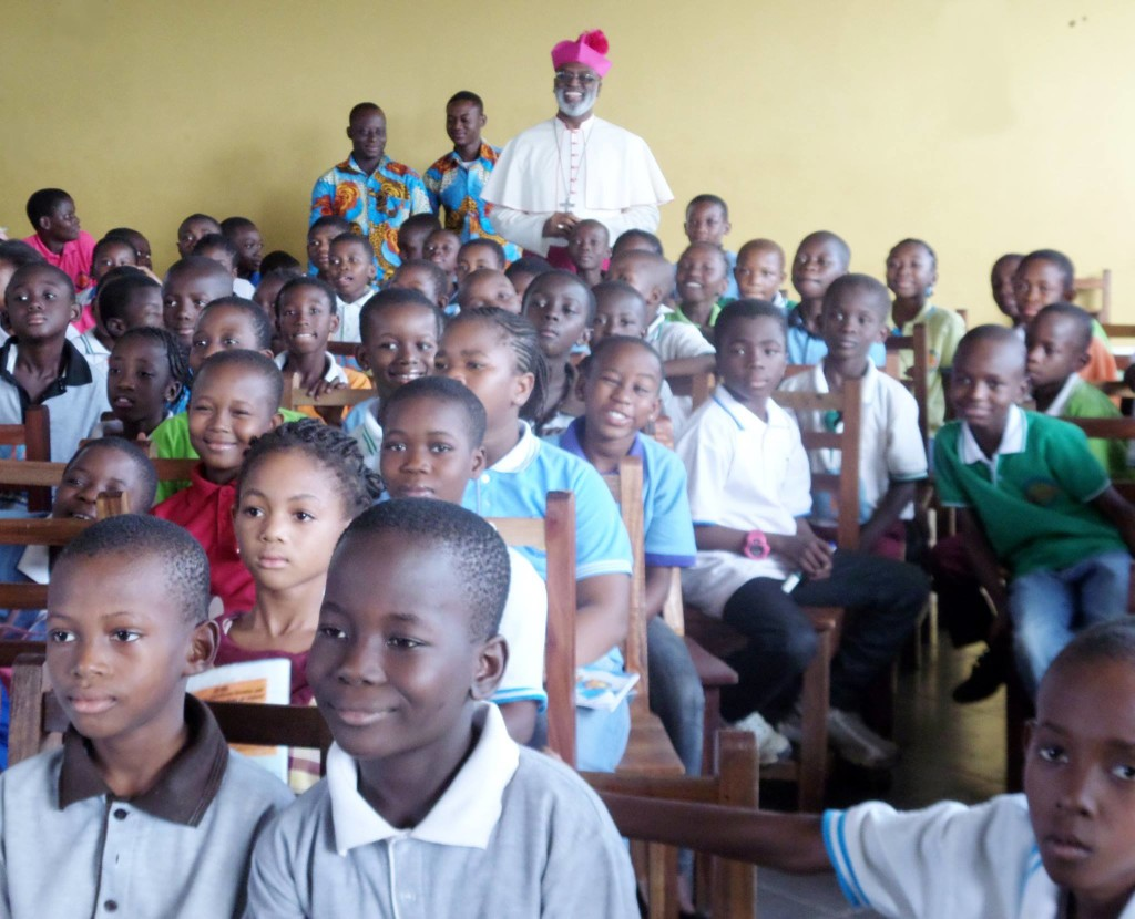 ArchBishop Charles Palmer Buckle Visits Fountain Gate International School