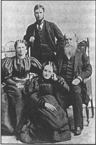 From right to left: John, Gladstone, Jeanie, and Esther Dowie