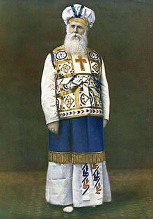 John Alexander Dowie, General Overseer of Zion in his high priest robe.