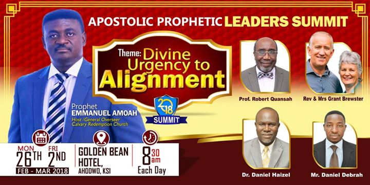 Rev. Emmanuel Amoah together with other partners have being organizing Apostolic Prophetic Leaders Summit