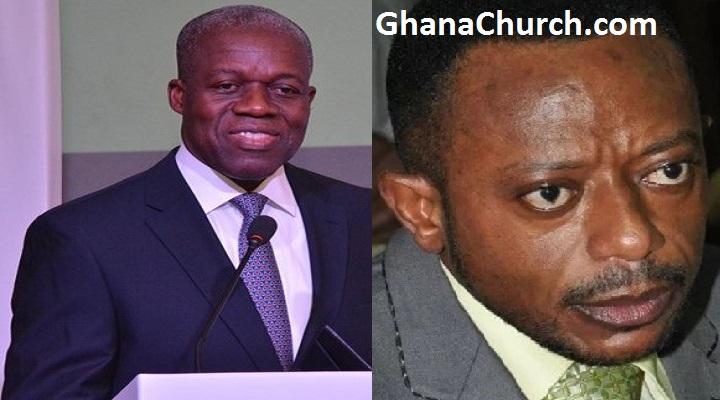 Former Ghana Vice President, Kwesi Amissah-Arthur (Left) And Prophet Isaac Owusu Bempah (Right)