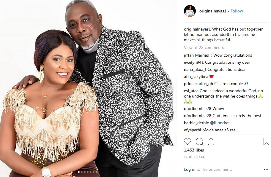 PHOTOS: Actress Nayas 1 and Actor Apostle John Prah allegedly tied the knot (in marriage)