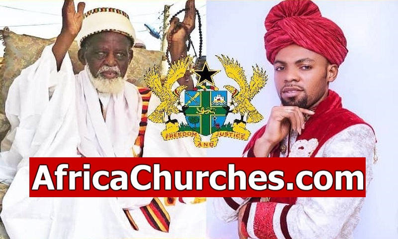 Rev Obofour - 'The PEACEmaker', visited Ghana National Chief Imam with goods [Watch Video]
