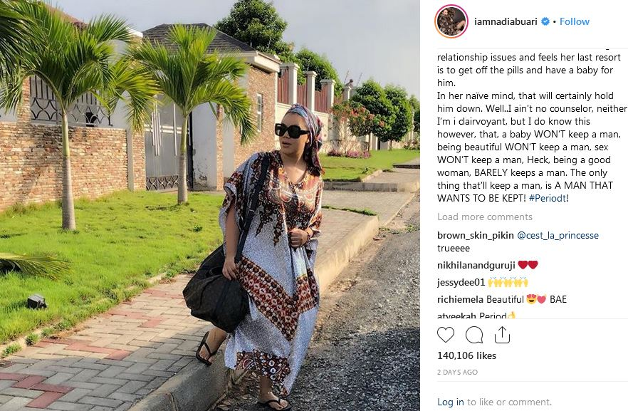 the comments by the award winning Ghanaian actress Nadia Buari Captured