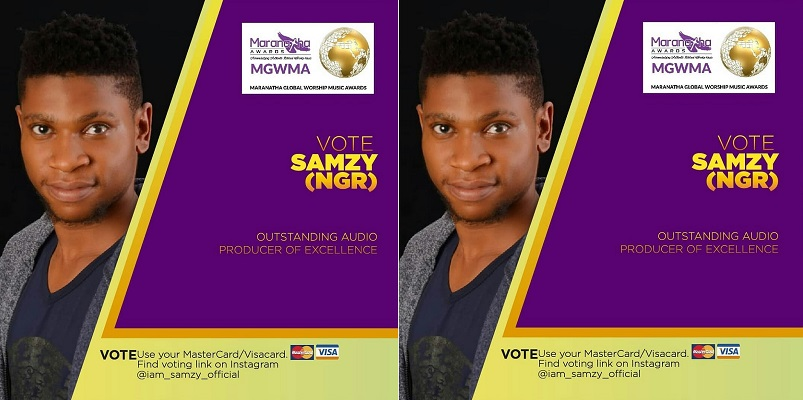 Samuel Okolo - SAMZY, Nominated For Maranatha Awards [Vote For Him Now]