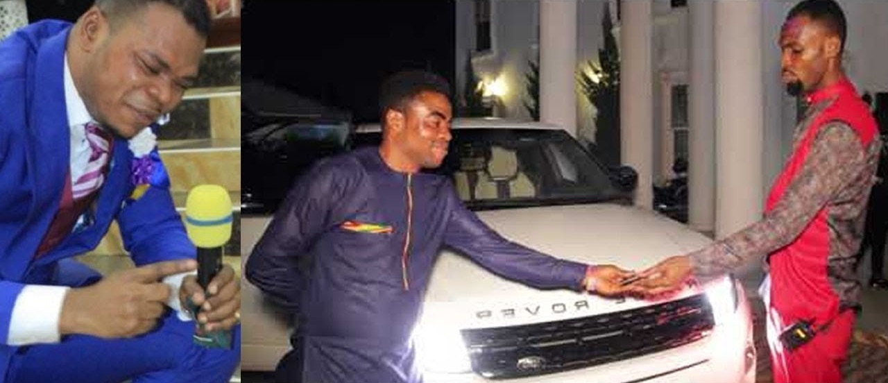 Rev. Obofour gifting Pastor One Blow a car