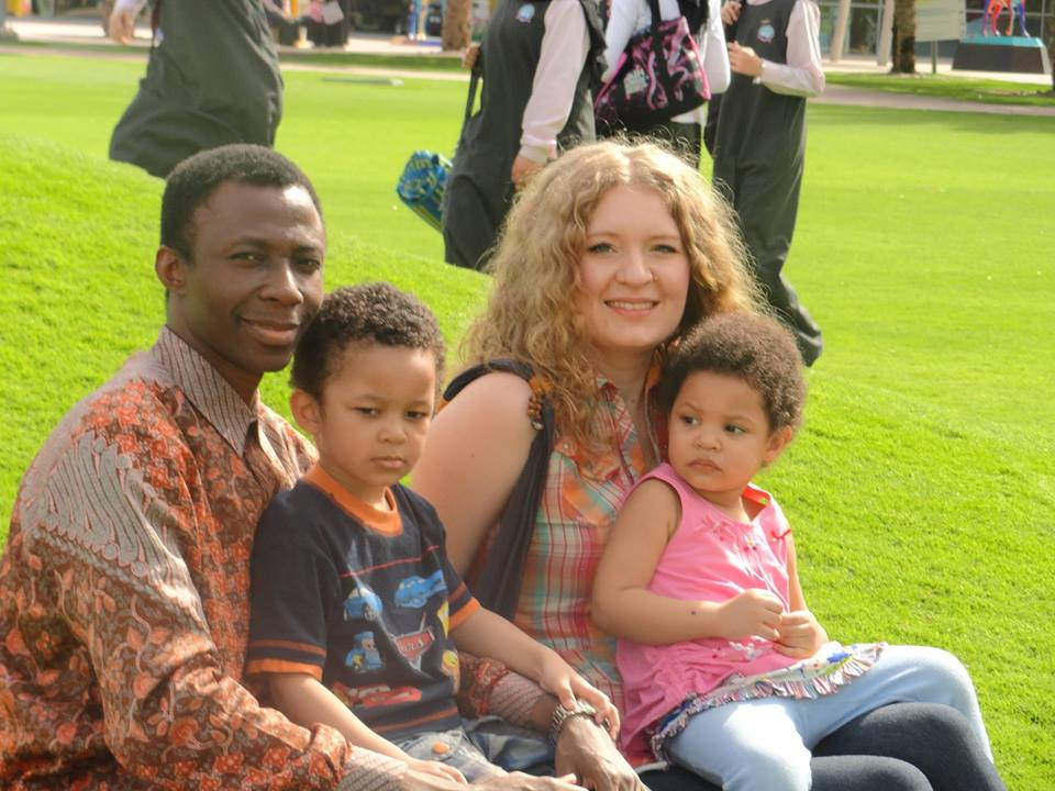 Apostle Thomas Carlos Gyamfi, His Wife Olga and Kids