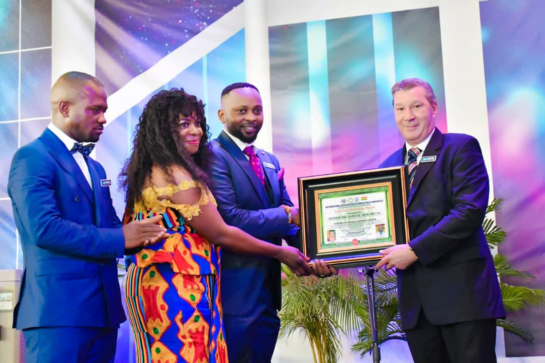 Bishop Dr Samuel Ben Owusu To the highest United Nations Peace Award Induction Ceremony [Photos]