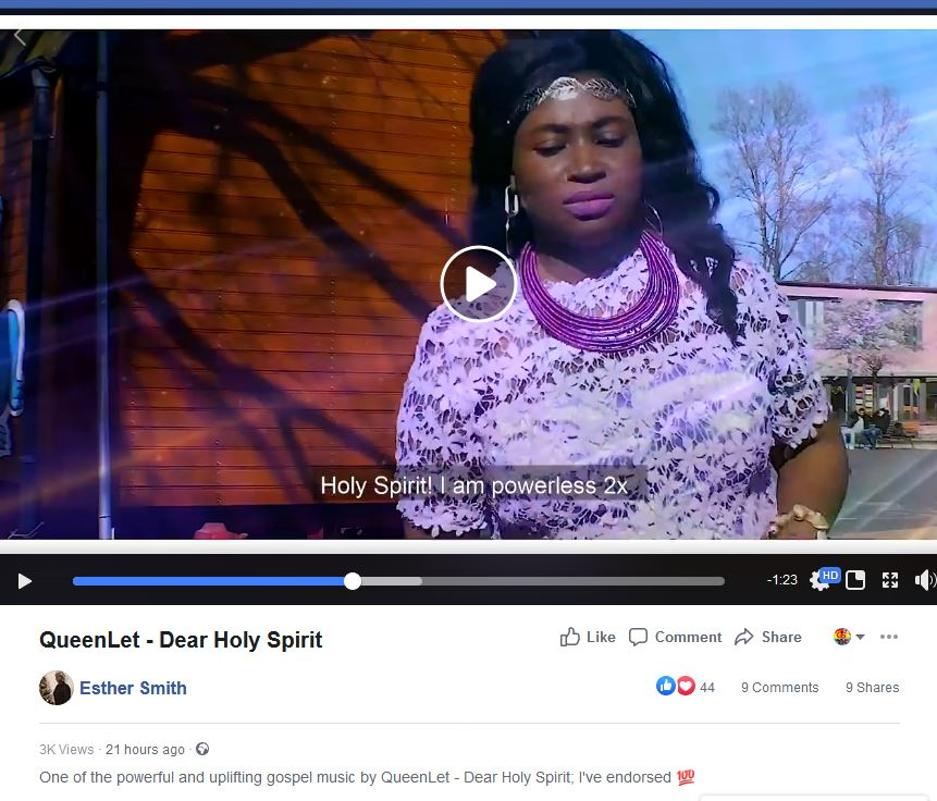Gospel Diva Esther Smith Has Endorsed QueenLet
